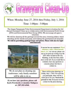 Graveyard CleanUp FLyer