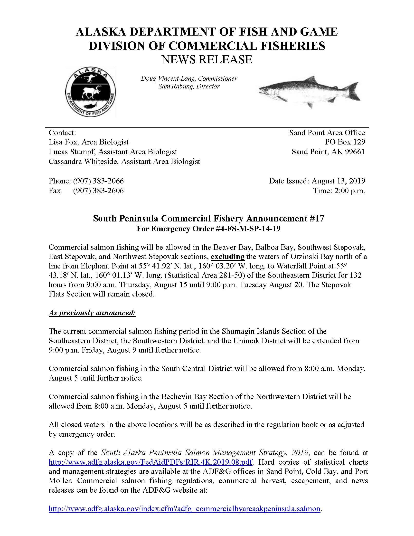 Fisheries News Archive - 830 AM KSDP – Sand Point, AK